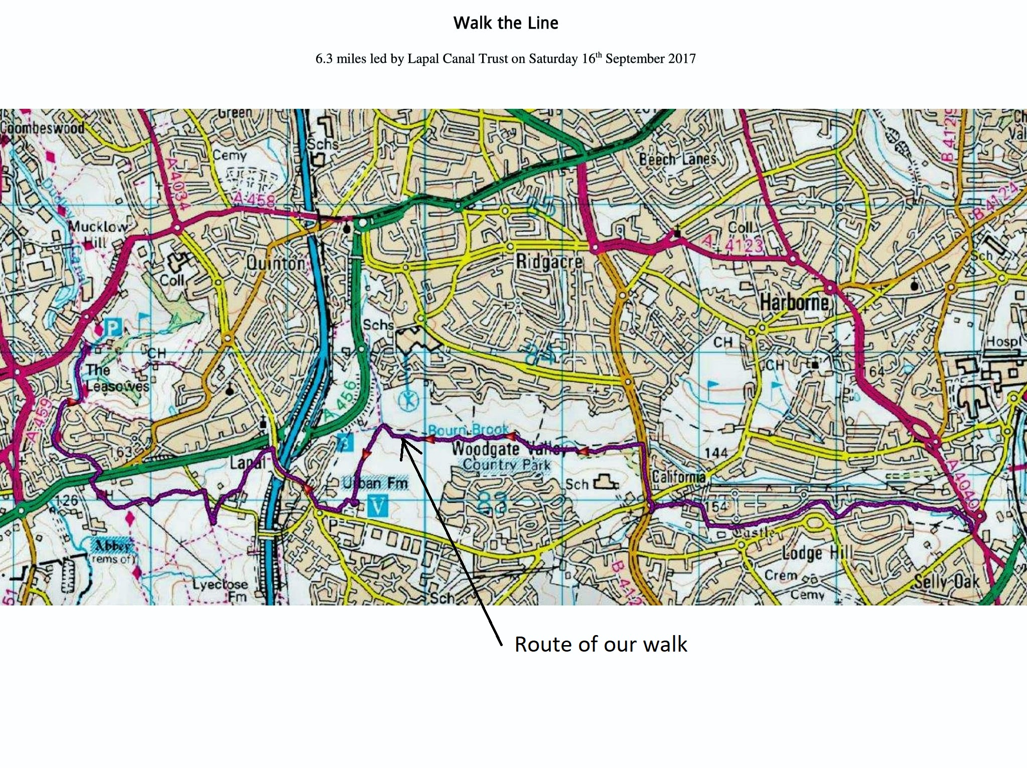 Walk the Line OS Map-1