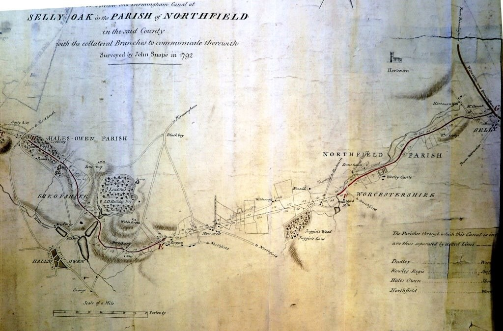 original plan of the canal made by John Snape
